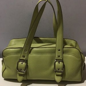 Cole Haan Village lime green pebble leather bag